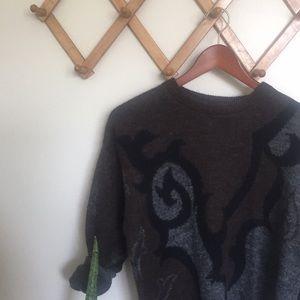 VINTAGE Graphic Cashmere Blend Sweater